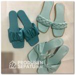 Sandal Cantik Wanita Warna Minty dan Turquise