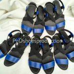 Sandal Elastic Ukuran Besar Hitam Biru