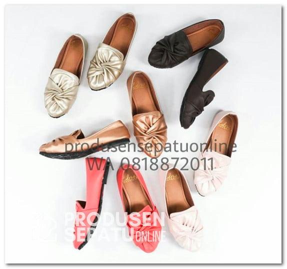 Sepatu Flatshoes Model Kerut Pita
