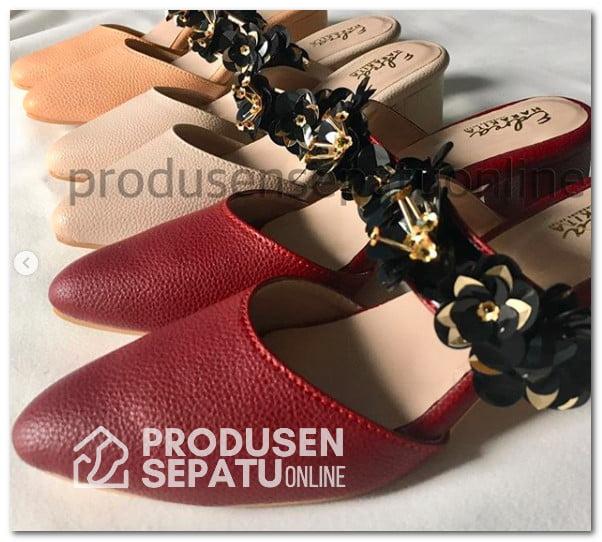Sepatu Selop Payet 3D