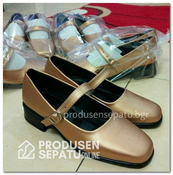 Sepatu Seragam PDL Wanita Warna Gold