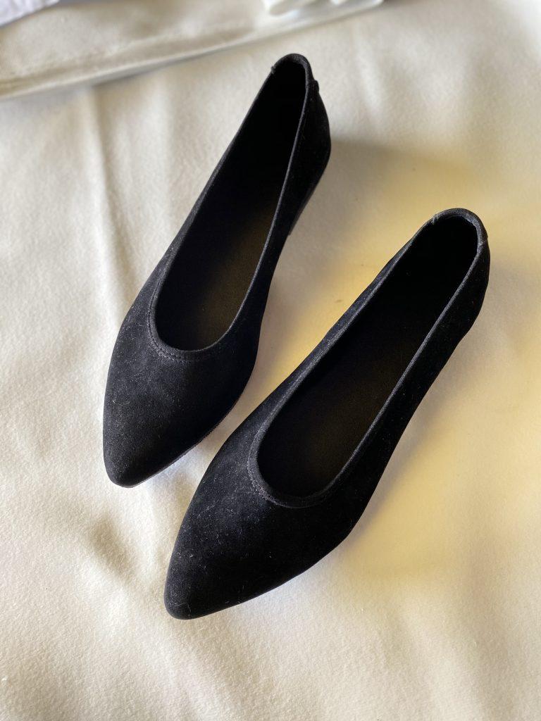 Flatshoes Hitam Polos Cantik handmade